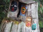 Carvings at the campground