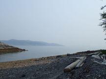 Coast Range hidden in smoke