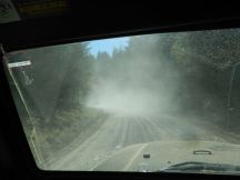 Dusty logging road