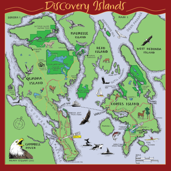 Discovery Islands Map